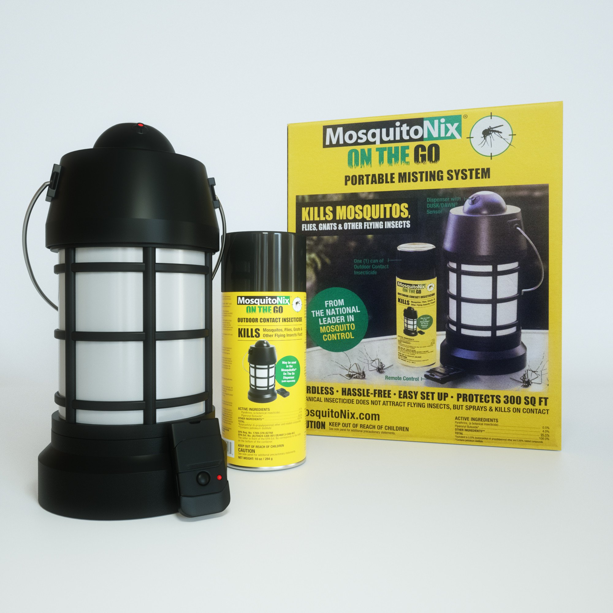 Portable Dispenser and Outdoor Contact Insecticide